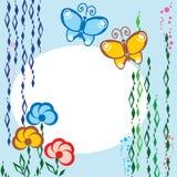 Flores e borboleta Fotografia de Stock