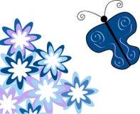 Flores e borboleta Imagem de Stock