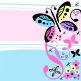 Flores e borboletas Fotos de Stock Royalty Free