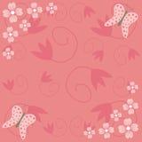 Flores e borboletas Imagens de Stock