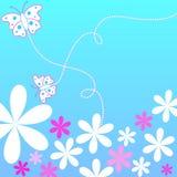 Flores e borboletas Fotos de Stock