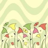 Flores e borboletas Fotografia de Stock Royalty Free