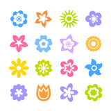 Flores e botões vermelhos do hibiscus Foto de Stock Royalty Free