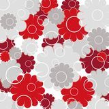 Flores e círculos Fotografia de Stock Royalty Free