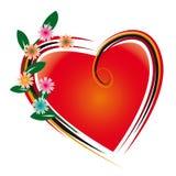 Flores e coração Imagem de Stock Royalty Free