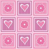 Flores e corações ilustração royalty free
