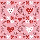 Flores e corações Foto de Stock
