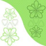 Flores e corações com teste padrão do fundo Fotos de Stock