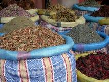 Flores e ervas de Shreded nos sacos Imagens de Stock