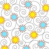 Flores e espirais - vetor Foto de Stock
