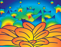 Flores e estrelas Foto de Stock Royalty Free