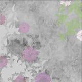 Flores e folha brandamente cinzentas e cor-de-rosa Imagens de Stock