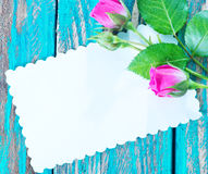 Flores e folha para a nota foto de stock royalty free