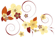 Flores e folhas Ilustração Stock