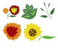 Flores e folhas da fantasia Fotos de Stock