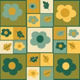 Flores e folhas pintadas fundo do outono Imagem de Stock Royalty Free