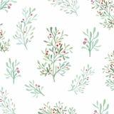 Flores e folhas sem emenda Fotos de Stock Royalty Free