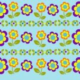 Flores e folhas sem emenda do teste padrão do vetor Fotos de Stock