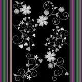 Flores e listras coloridas Imagem de Stock