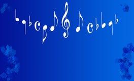 Flores e notas musicais Imagens de Stock