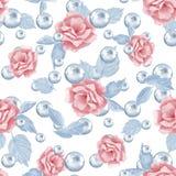 Flores e pérolas 1 Imagens de Stock