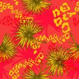 flores e palma tropicais Imagem de Stock Royalty Free