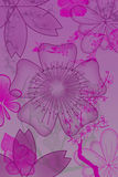 Flores e plantas abstratas Foto de Stock