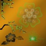 Flores e plantas coloridas Imagens de Stock
