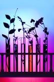 Flores e plantas nas câmaras de ar de teste Imagem de Stock