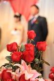 Flores e rosas do casamento Foto de Stock