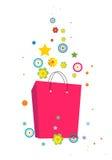 Flores e saco ilustração stock