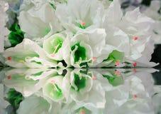 Flores e sua reflexão Fundo da flor Fotografia de Stock