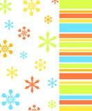 Flores e teste padrão das listras Foto de Stock Royalty Free