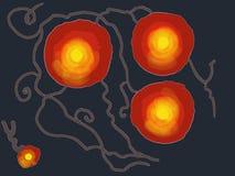 Flores elétricas vermelhas de bloqueio imagens de stock royalty free