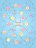 Flores em curvas espirais Imagem de Stock