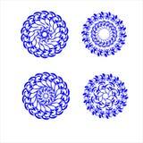 Flores em um círculo. Imagem de Stock Royalty Free