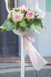Flores em um casamento Fotografia de Stock Royalty Free