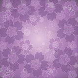 Flores em um fundo do lilac Fotos de Stock