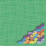 Flores em um fundo verde Fotos de Stock