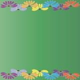 Flores em um fundo verde Imagem de Stock