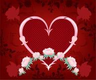 Flores em um fundo vermelho. Foto de Stock