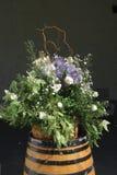 Flores em um tambor Imagem de Stock