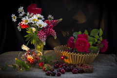 Flores em um vaso Fotos de Stock Royalty Free