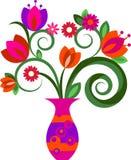 Flores em um vaso Fotos de Stock