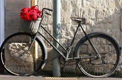 Flores em uma bicicleta foto de stock