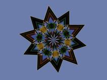 Flores em uma estrela Foto de Stock Royalty Free