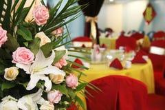 Flores en banquete de la boda. Foto de archivo libre de regalías