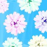 Flores en colores pastel ilustración del vector