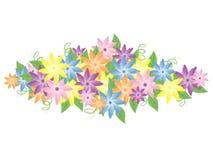 Flores en colores pastel Fotografía de archivo