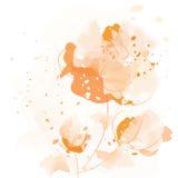 Flores en colores pastel de la acuarela Imagen de archivo libre de regalías